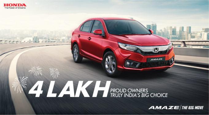 Honda Amaze India Beats 4 Lakh Cumulative Sales Milestone as Largest Selling Model